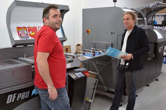 L'imprimerie souhaitait renforcer son parc machines avec une presse de qualité offset et un matériel de finition en ligne performant.  www.graphiline.com…